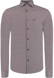 Camisa Vr Xadrez Bolso Masculina - Masculino-Roxo