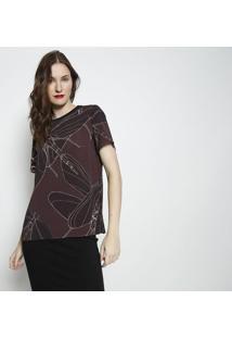 Camiseta Texturizada- Marrom Escuro & Preta- Forumforum