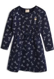 Vestido Milon Paris Azul-Marinho