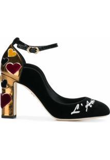 Dolce & Gabbana Sapato 'Vally' Com Bordado - Preto