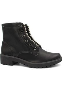 Bota Ankle Boot Dakota Em Couro Feminina - Feminino