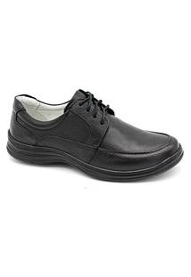 Sapato Social Masculino Couro Palmilha Gel Conforto Trabalho Preto 39 Preto