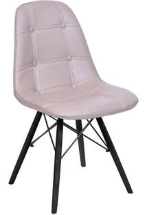 Cadeira Eames Botonê- Fendi & Preta- 83X44X39Cm-Or Design