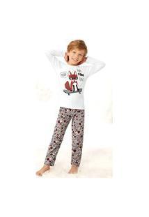 Pijama Juvenil Masculino Inverno Estampa Malwee Kids