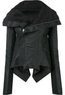 Rick Owens Coated Biker Jacket - Preto