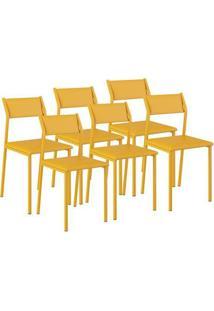 Cadeira 1709 Color Uv 06 Unidades Amarelo Ouro Carraro