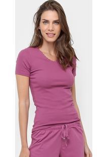 Camiseta Pijama Liz Manga Curta - Feminino