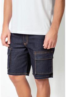 Bermuda Actual Jeans Com Bolsos Cargo