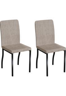 Conjunto Com 2 Cadeiras Napier Palha E Preto