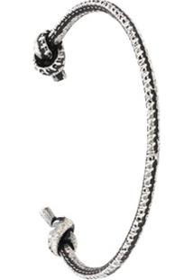 Eleventy Bracelete Com Nós - Metálico