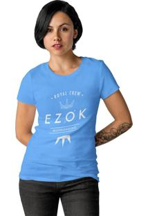 Camiseta Feminina Ezok Royal Crew Azul Claro