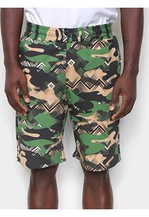 Bermuda Otn Camuflada Masculina - Masculino-Verde