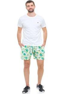 Bermuda De Praia Tactel D'Affari - Lemon Masculina - Masculino-Verde