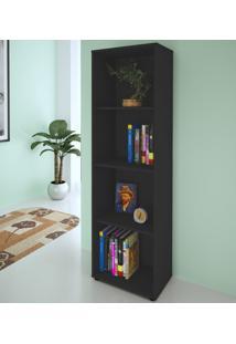 Estante Para Livros Clean 3 Prateleiras Preto 005326 - Artany