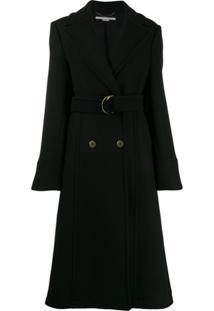 Stella Mccartney Casaco De Lã Com Abotoamento Duplo - Preto