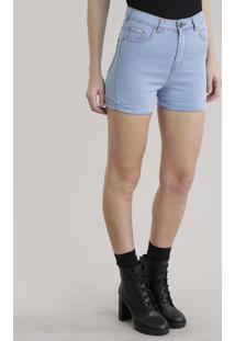 Short Jeans Hot Pant Azul Claro