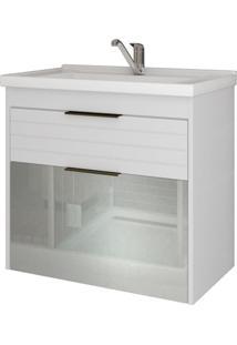 Gabinete De Banheiro Azaleia 1 Pt 1 Gv Branco 59 Cm