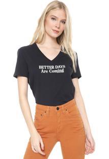 Camiseta Calvin Klein Jeans Better Days Preta