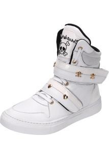 Sneaker Fitness Cheia De Marra 1001 Branco - Kanui