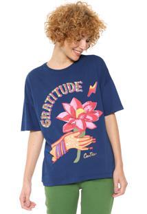 Camiseta Cantão Gratitude Azul-Marinho