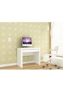 Mesa Computador Simples 1 Gaveta Branco