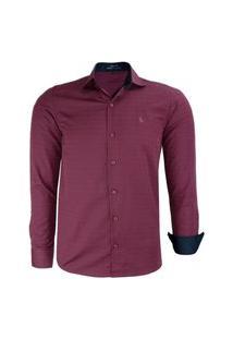 Camisa Amil Manga Longa Confort Dream Bordo # Top 2021