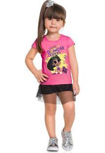 Conjunto Infantil Anitinha Brandili Rosa