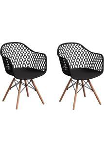 Conjunto Com 2 Cadeiras Siberian Eiffel Preto