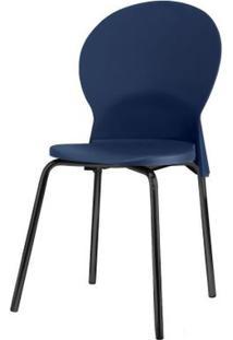 Cadeira Luna Assento Azul Base Preta - 53802 - Sun House