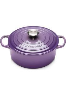 Panela Redonda Signature 24 Cm Ultra Violeta Le Creuset