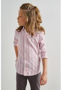 Camisa Mini Pf Textura Horizontal Inv 19 Infantil Reserva Mini Masculina - Masculino-Bordô