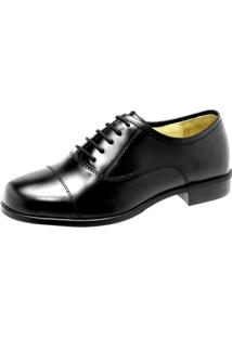Sapato Social Force Militar Envernizado Preto