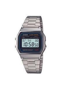 Relógio Digital Casio Vintage Unissex - A158Wa1Dfu Prateado
