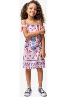 Vestido Rosa Claro Ciganinha Menina Malwee Kids