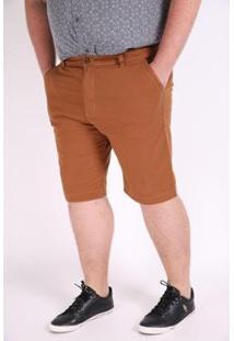 Bermuda Kauê Plus Size Color Confort Masculina - Masculino-Caramelo