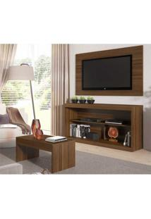 Rack C/Painel Tv Até 47 Pol Mesa Centro Inovare Multimóveis Duna Acetinado Texturizado Marrom