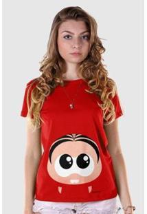 Camiseta Bandup Turma Da Mônica Toy Big Mônica - Feminino-Vermelho