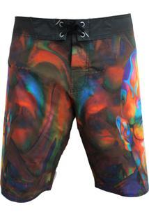 Bermuda Tecido Alkary Haisen Multicolorido