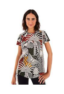 Camiseta Farm Rio Dry Beleza Gráfica - Feminina - Branco/Vermelho