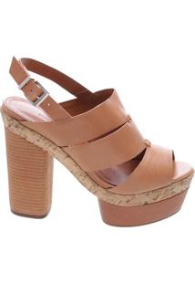 Sandália Block Heel Stripe Avelã | Schutz