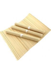 Jogo Americano Bambu Natural 30X45Cm De 4 Peças- Gs