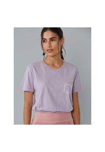 Amaro Feminino T-Shirt Regular Bem Me Quero, Lilás