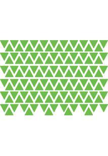Adesivo De Parede Triângulos Verde Claro 121Un - Tricae