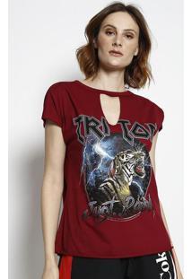 "Camiseta ""Triton Just Triton"" - Bordã´ & Preta - Trittriton"