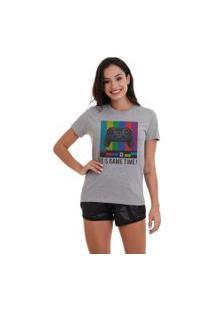 Camiseta Basica Joss Game Time Cinza Mescla