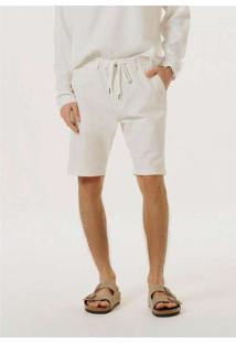 Bermuda Masculina De Sarja Com Cadarço Off-White