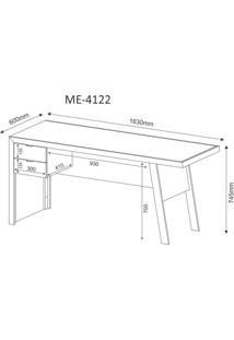 Mesa Para Escritório 2 Gavetas Me4122 Tecno Mobili Carvalho/Fendi