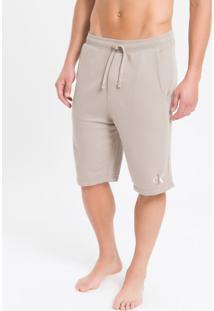 Bermuda Moletom Masculina Ck One Cáqui Loungewear Calvin Klein - S