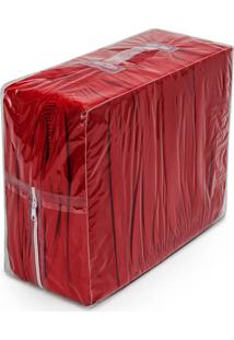 Capa De Sofá Bordados Ricardo Elasticada 02 Peças Vermelho