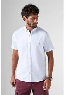 632333a238 Camisa Reserva Regular Detalhes Pois Mc Masculina - Masculino-Branco